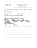 9 Đề KSCL Toán & Tiếng Việt 4 (2012-2013) - Trường TH Xuân Hương 1 - Tuần 22 đến tuần 30 (Kèm hướng dẫn chấm)