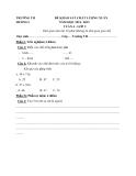 9 Đề KSCL Toán & Tiếng Việt 2 (2012-2013) - Trường TH Xuân Hương 1 - Tuần 4 đến tuần 12 (Kèm hướng dẫn chấm)