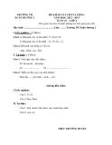 10 Đề KSCL Toán & Tiếng Việt 1 (2012-2013) - Trường TH Xuân Hương 1 - Tuần 23 đến tuần 32 (Kèm hướng dẫn chấm)