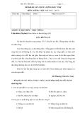 Đề khảo sát chất lượng đầu năm Tiếng Việt 5 (2012 - 2013)