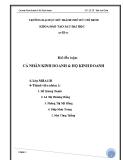 Tiểu luận: Cá nhân kinh doanh và hộ kinh doanh