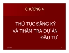 Bài giảng Pháp luật về đầu tư: Chương 4 - Đại học Mở TP HCM