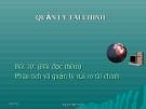 Bài giảng Quản trị tài chính: Bài 10 - PGS.TS. Nguyễn Minh Kiều