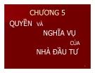 Bài giảng Pháp luật về đầu tư: Chương 5 - Đại học Mở TP HCM