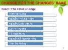 Thuyết trình: Change for the changes' sake