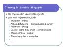 Bài giảng Lập trình Windows: Chương 5 - Lập trình tài nguyên