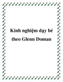 Kinh nghiệm dạy bé theo Glenn Doman