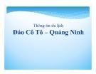 Thông tin du lịch: Đảo Cô Tô - Quảng Ninh
