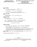 Đề kiểm tra KSCL chuyên đề Toán 10 khối D - Trường THPT Ngô Gia Tự (Kèm đáp án)