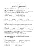 Đề thi học kỳ 1 môn Ngữ văn lớp 7 năm 2011-2012