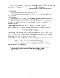 Đề kiểm tra 1 tiết chuyên đề Toán 11 (Kèm đáp án)