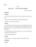 Giáo án Âm nhạc 9 bài 1: Học hát Bóng dáng một ngôi trường