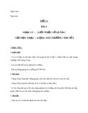 Giáo án bài 1: Nhạc lí: Giới thiệu về quãng. Tập đọc nhạc số 1 - Âm nhạc 9 - GV:T.K.Ngân