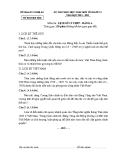 Đề thi HSG cấp tỉnh Lịch sử 12 - (Kèm Đ.án)