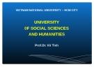 Bài giảng Học thuyết hình thái kinh tế - xã hội - Prof. Dr. Vũ Tình