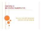 Bài giảng Đề cương nghiên cứu - PGS.TS. Nguyễn Minh Hà