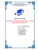 Tiểu luận: Áp dụng Lean Manufacturing tại Công ty TNHH Wonderful Saigon Electric