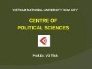Bài giảng Lịch sử triết học phương Tây - Prof.Dr. Vũ Tình