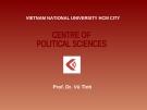 Bài giảng Chủ nghĩa duy vật biện chứng cơ sở lý luận của thế giới quan khoa học - Prof.Dr. Vũ Tình