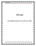 Tiểu luận: Quy trình áp dụng công cụ 5S  tại công ty TMIC