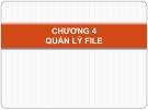 Bài giảng Hệ điều hành - Chương 4: Quản lý file
