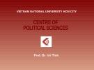 Bài giảng Nguyên tắc thống nhất giữa lý luận với thực tiễn - Prof. Dr. Vũ Tình