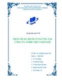 Tiểu luận: Phân tích chuỗi cung ứng của Công ty Việt Nam NOK (VNN)