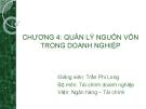 Bài giảng Tài chính doanh nghiệp: Chương 4 - GV. Trần Phi Long