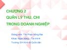 Bài giảng Tài chính doanh nghiệp: Chương 2 - Ths. Phan Hồng Mai
