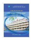 Tuyển tập các báo cáo Hội nghị khoa học lần thứ 20 - ĐH Mỏ địa chất Hà Nội