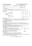 Đề thi học sinh giỏi môn Lý lớp 11 - Kèm đáp án
