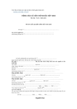 Mẫu tờ khai xin cấp lại bản chính giấy khai sinh