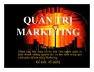 Bài giảng Quản trị marketing (6 chương)