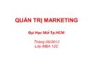 Bài giảng Quản trị marketing - GV. Nguyễn Thế Khải