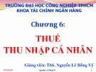Bài giảng Thuế: Chương 6 - ThS. Nguyễn Lê Hồng Vỹ