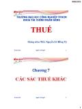 Bài giảng Thuế: Chương 7 - ThS. Nguyễn Lê Hồng Vỹ