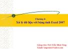 Bài giảng Tin học căn bản: Chương 4 - GV.Trần Thanh San