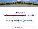 Bài giảng Cơ sở lập trình - Chương 3: Các cấu trúc điều khiển