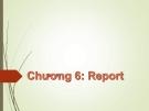 Bài giảng Tin học nâng cao (Microsoft Access): Chương 6 - GV.Trần Thanh San