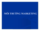 Bài giảng Môi trường marketing