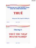 Bài giảng Thuế: Chương 5 - ThS. Nguyễn Lê Hồng Vỹ
