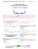 Chuyên đề luyện thi ĐH phần 1: Khảo sát hàm số