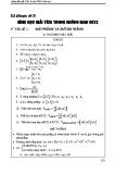 Toán ôn thi Đại học - Chuyên đề 8: Hình học giải tích trong không gian OXYZ