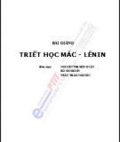 Bài giảng Triết học Mác - Lênin: Phần 1 - Nguyễn Thị Hồng Vân