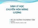 Bài giảng Sinh lý học chuyển hóa năng lượng - BS. Huỳnh Thị Minh Tâm