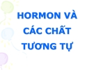 Bài giảng Hormon và các chất tương tự