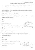 Đề cương ôn tập môn Vật lý lớp 11: Chương II - Dòng điện không đổi - Định luật Ôm cho đoạn mạch chỉ chứa điện trở thuần