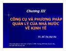 Bài giảng Quản lý nhà nước về kinh tế: Chương 3 - TS. Đỗ Thị Hải Hà