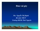 Bài giảng Y học cổ truyền: Đau vai gáy - ThS. Nguyễn Thị Hạnh (ĐH Y khoa Thái Nguyên)