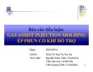 Tiểu luận: Gas assist injection molding ép phun có khí hỗ trợ